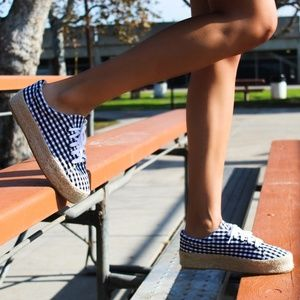 Shoes - 🆕//The Ray// Black and white Gingham espadrille